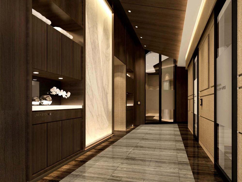 MRI PET center interior design_ corridor