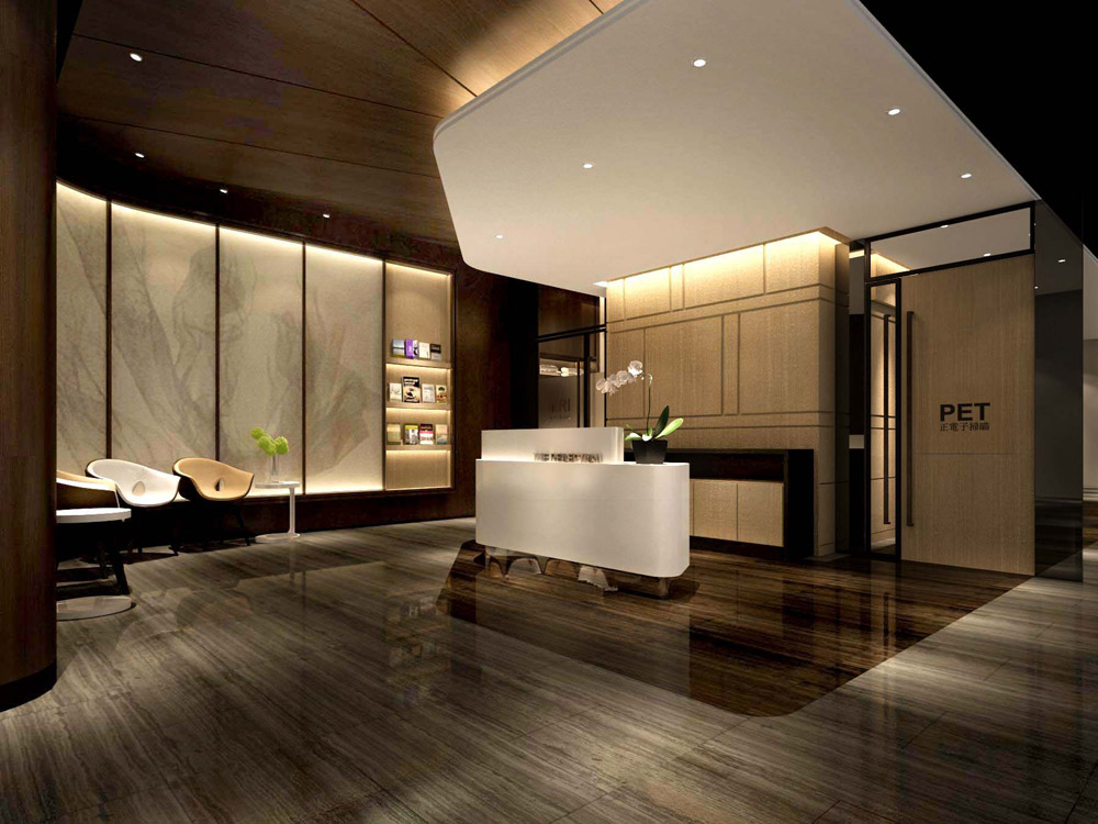 MRI PET center interior design_ entry