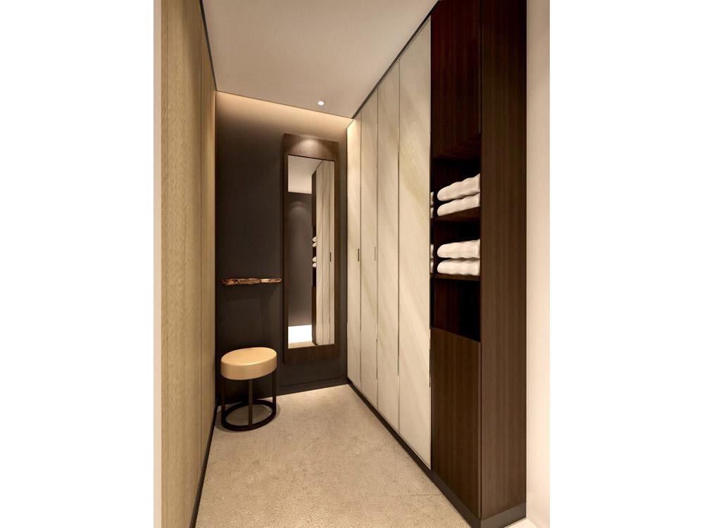 MRI PET center interior design_changing room