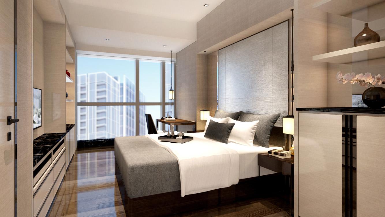 CDIFC-service-apartments-teak-and-vanilla-bedroom