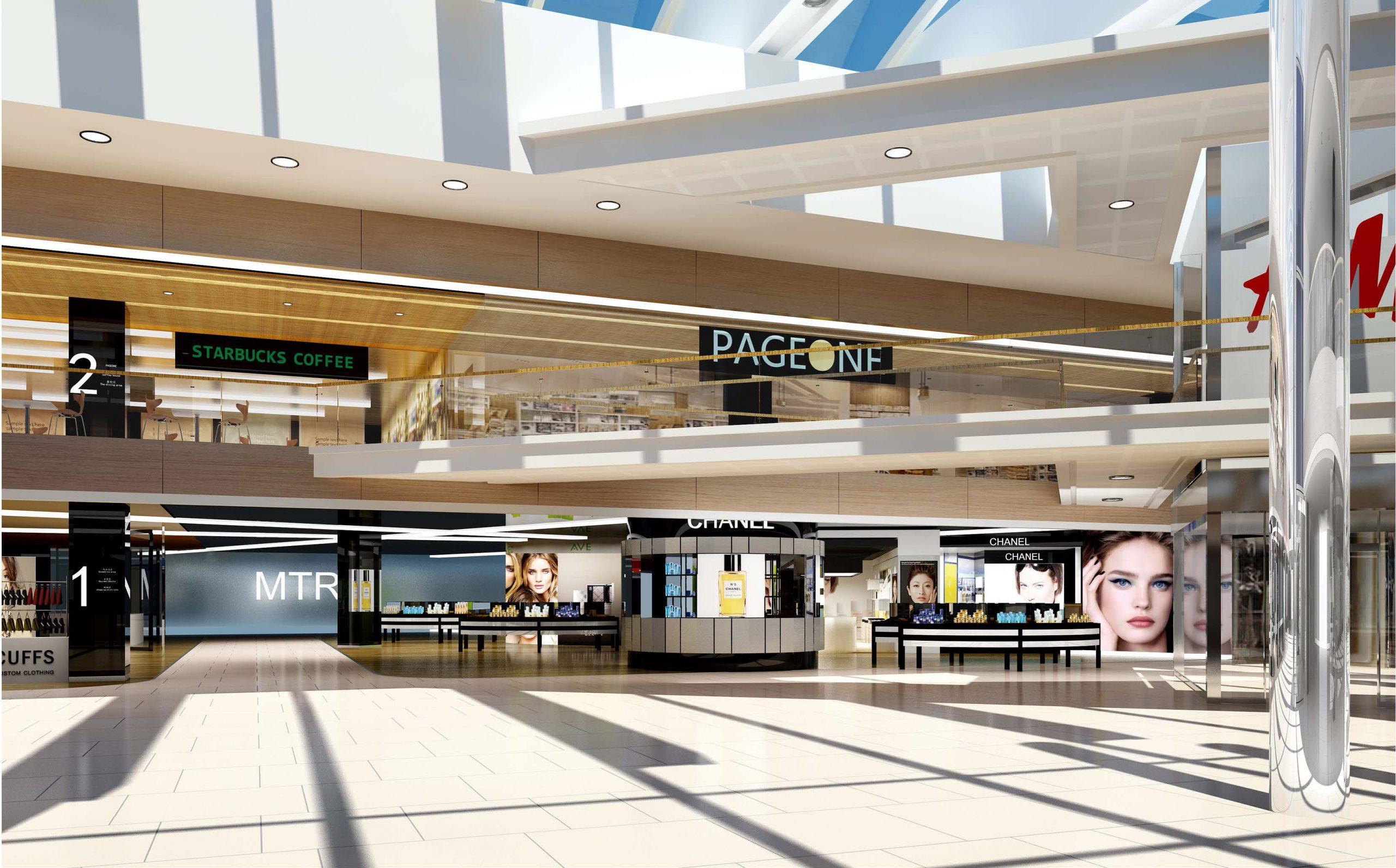 retail mall interior renovation